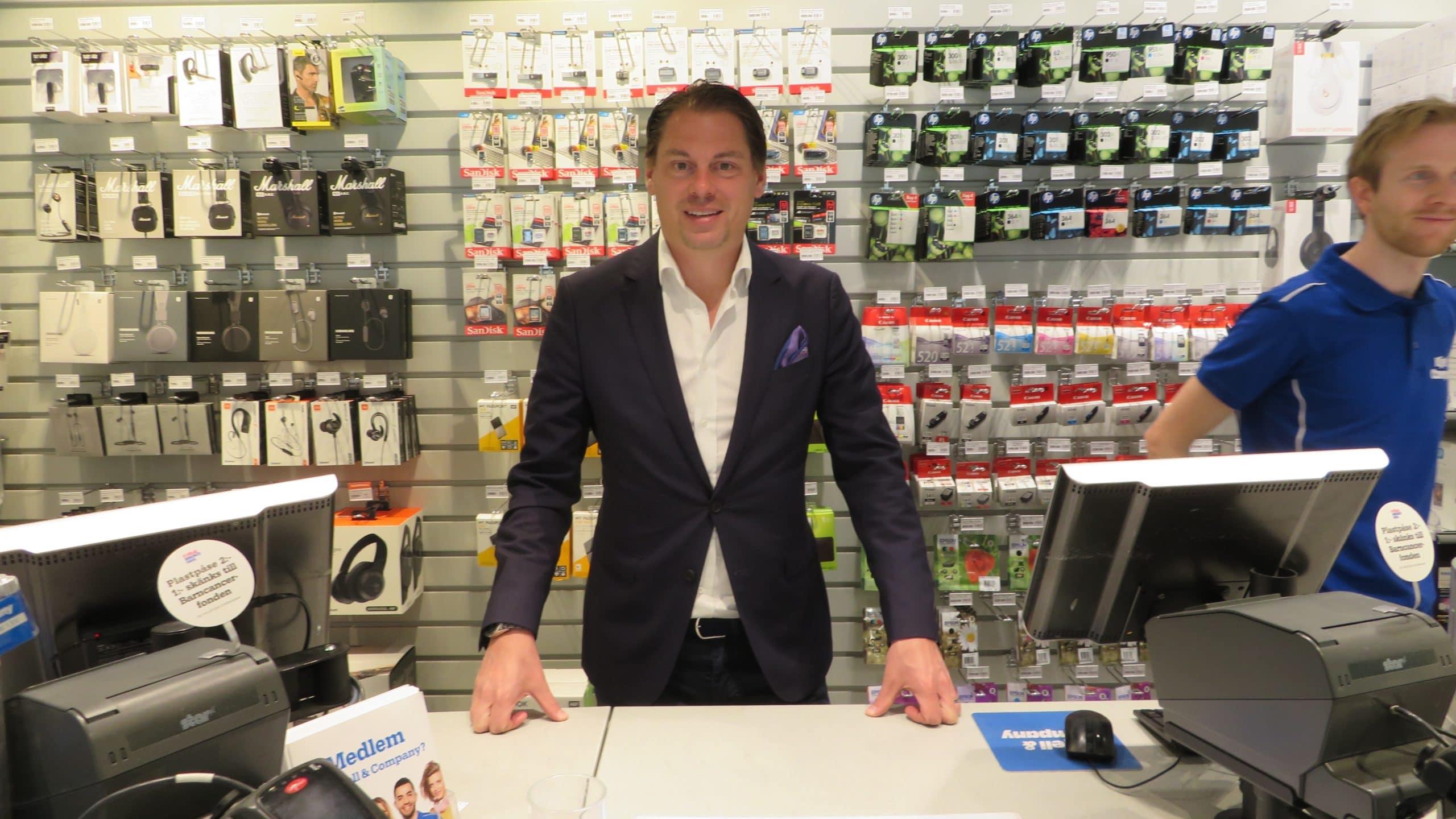 Eric Lundberg, vd på Kjell & Co